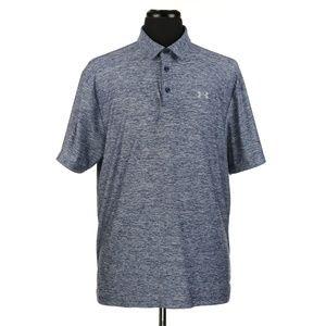 Under Armour Heatgear S/S Polo Shirt Gray/Blue XL